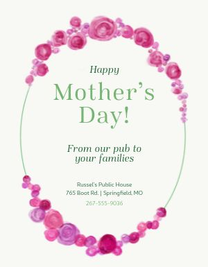 Mothers Day Pub Flyer