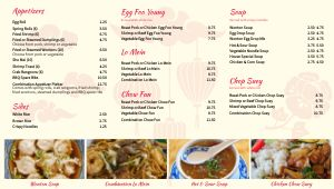 Chinese Digital Menu Board Example