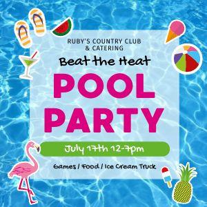 Pool Party Instagram Post
