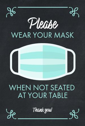 Masks Table Sign