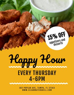 Wings Happy Hour Flyer
