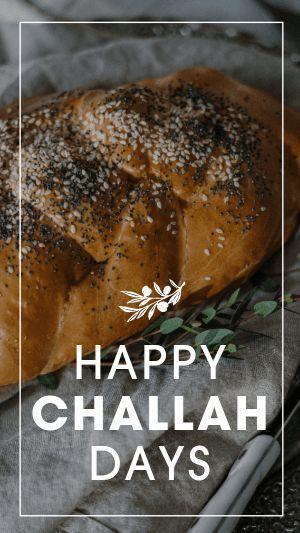 Hanukkah Challah Instagram Story