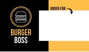 Burger Food Label