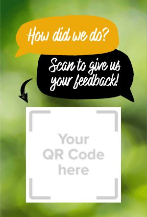 Feedback QR Code Table Sign