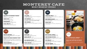 Modern Cafe Daily Specials Digital Menu Board