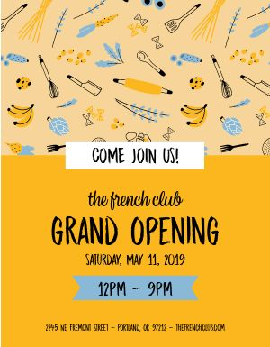 Grand Opening Announcement Flyer