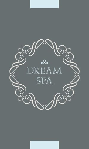Decorative Spa Business Card