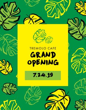 Cafe Grand Opening Flyer