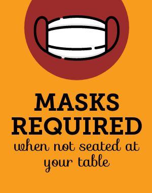 Restaurant Mask Poster