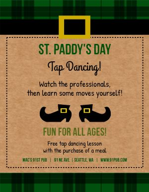 St Patricks Day Dancing Flyer