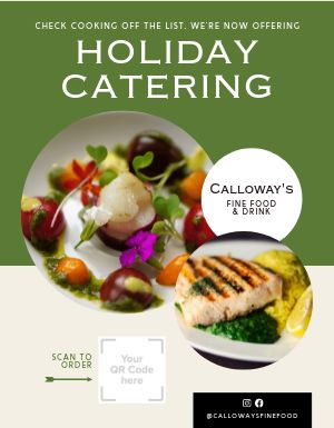 Holiday Catering Signage