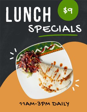 Lunch Specials Promo