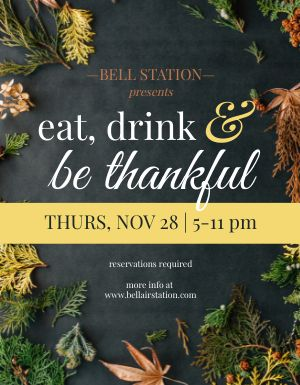 Thanksgiving Eats Flyer