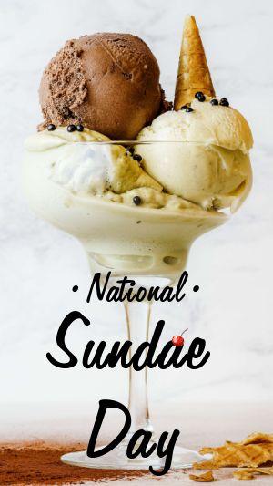 National Sundae Day IG Story