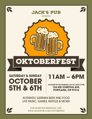 Oktoberfest Info Flyer