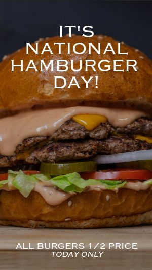 Hamburger Facebook Story