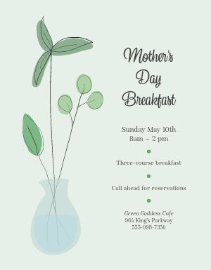 Mothers Day Breakfast Flyer