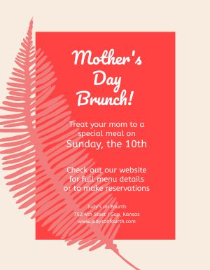 Mothers Day Meal Flyer