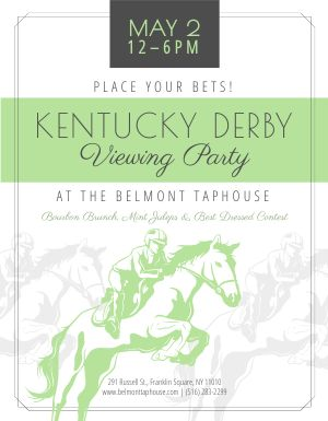 Kentucky Derby Horse Flyer
