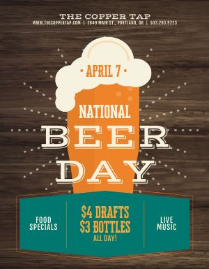 National Beer Day Deal Flyer