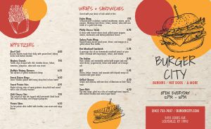 Burger Takeout Menu Example
