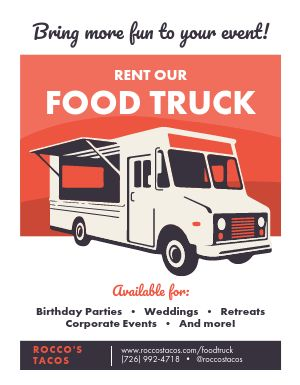 Food Truck Catering Flyer