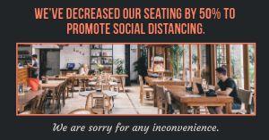 Decreased Seating Facebook Post