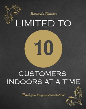 Limited Indoor Seating Poster
