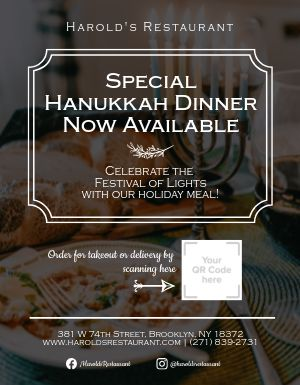 Hanukkah Specials Flyer