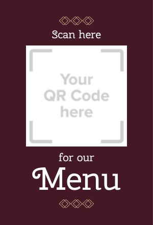 QR Code Menu Table Sign