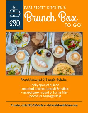 Brunch Takeout Flyer