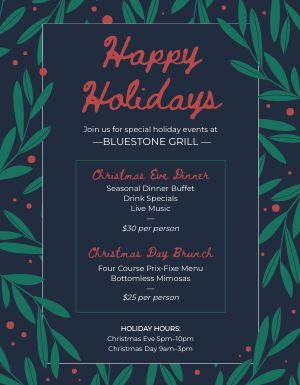Christmas Holiday Specials Flyer