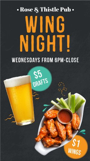 Wing Night Facebook Story