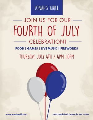 Fourth of July Party Flyer