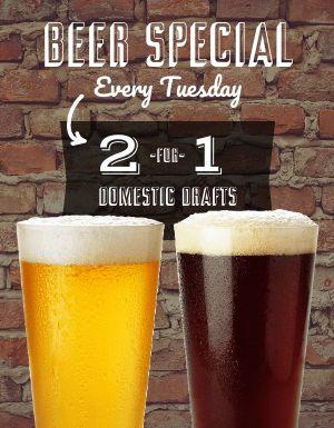 Beer Specials Signage