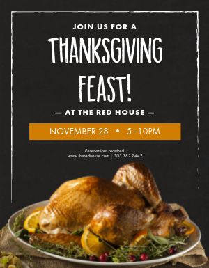 Thanksgiving Turkey Feast Flyer