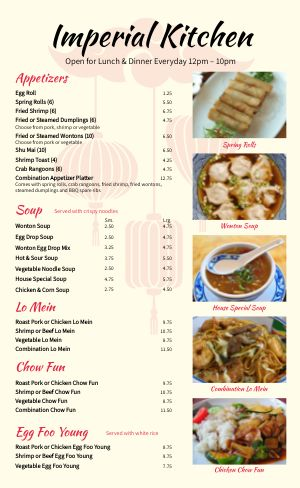 Chinese Menu Example