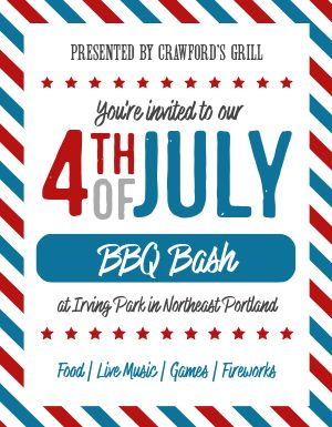 July Fourth Invitation Flyer