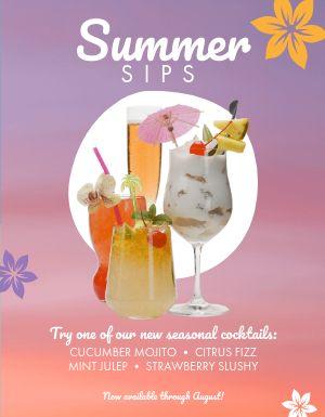 Summer Cocktails Flyer