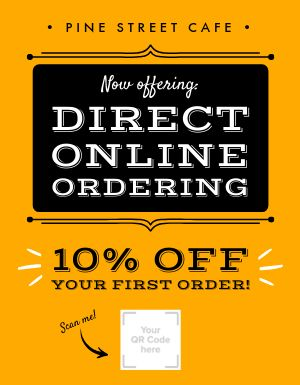 Direct Online Ordering Signage