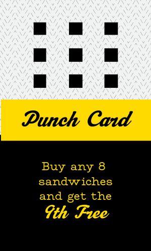 Sandwich Loyalty Card