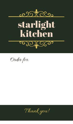 Order For Food Label