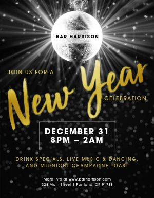 New Years Eve Nightlife Flyer