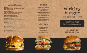 Cork Burger Takeout Menu