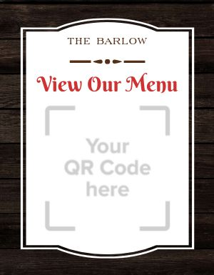 Menu QR Code Sign