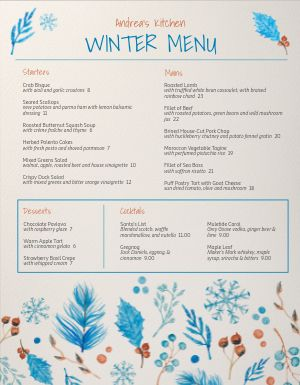 Christmas Medley Menu