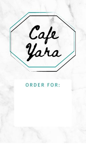 Cafe Order Label