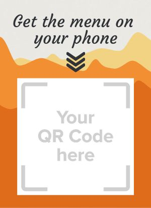 Scan QR Code Tabletop Sign