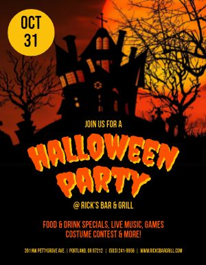 Halloween Haunted Party Flyer