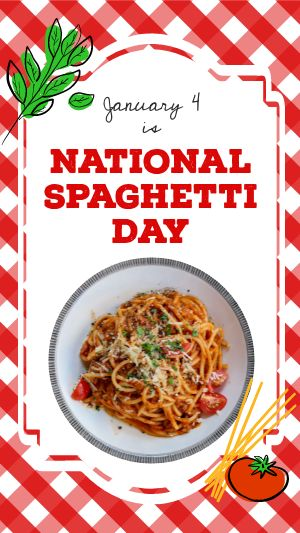 National Spaghetti Day Instagram Story